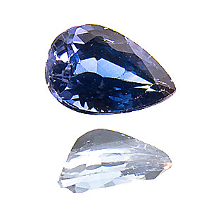 Sapphire from Sri Lanka. 0.56 Carat. good colour, vivid, from an old lot, very slightly abraded pavilion facet edges do not disturb the brilliance