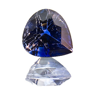Sapphire from Sri Lanka. 1.03 Carat. for gemcutters: excellent colour, from an old lot, slightly abraded facet edges, should be repolished