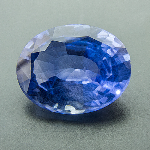 Sapphire from Sri Lanka. 1.88 Carat. Fine rutile needles prove that this beauty has not been heat-treated.