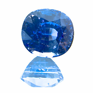 Sapphire from Sri Lanka. 1.37 Carat. Cushion, small inclusions