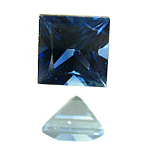 Sapphire from Australia. 1 Piece. Square Princess, very very small inclusions
