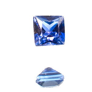 Sapphire from Madagascar. 1 Piece. Square Princess, very small inclusions