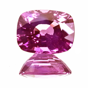 Purple Sapphire from Tanzania. 3.05 Carat. Cushion, very very small inclusions