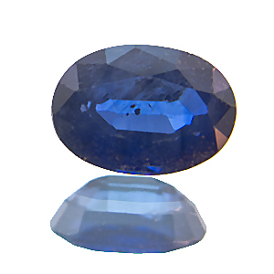 Sapphire from Madagascar. 1 Piece. Oval, distinct inclusions