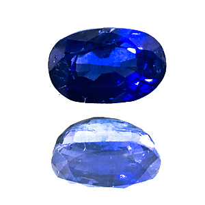 Saphir from Sri Lanka. 0.96 Carat. old, beautiful ceylon-sapphire, slightly too deep pavilion