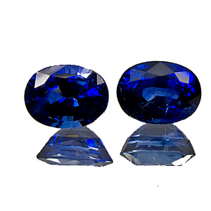 Sapphire from Madagascar. 4.45 Carat. Exceptionally beautiful pair, fantastic colour.