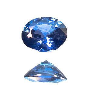 Sapphire from Madagascar. 0.37 Carat. Oval, distinct inclusions