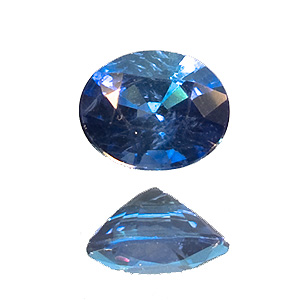 Sapphire from Madagascar. 0.46 Carat. Oval, small inclusions