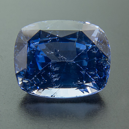 Sapphire from Sri Lanka. 1.64 Carat. Cushion, small inclusions