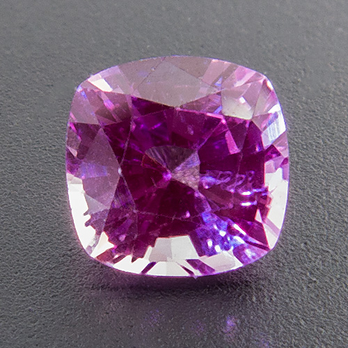 Pink Sapphire from Tanzania. 0.74 Carat. Cushion, very very small inclusions