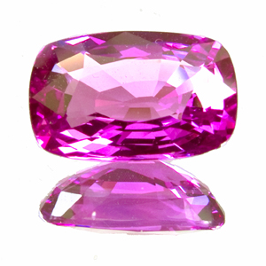 Pink Sapphire from Tanzania. 2.37 Carat. vibrant, bi-coloured purple/pink, shallow pavilion