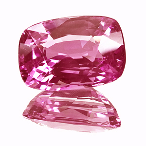Pink Sapphire from Tanzania. 3.02 Carat. Cushion, very very small inclusions