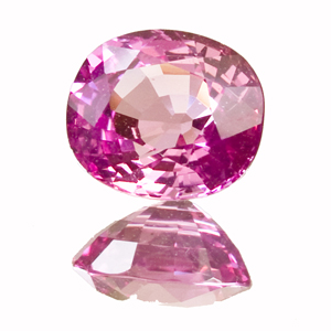 Pink Sapphire from Tanzania. 1.94 Carat. Oval, very very small inclusions
