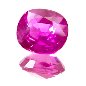 Pink Sapphire from Tanzania. 2.76 Carat. rutile needles which dissolved during heating give this beauty it´s silky appearance