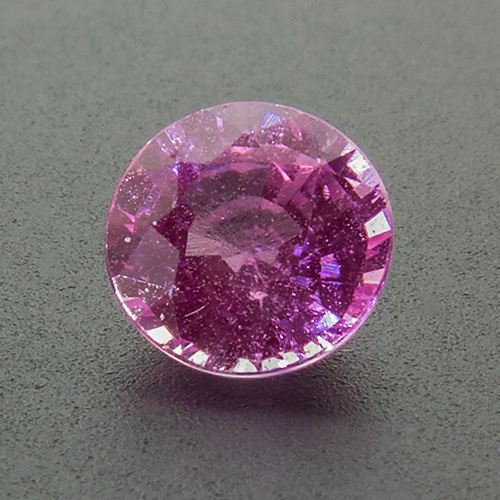 Pink Sapphire from Sri Lanka. 0.79 Carat. Round, distinct inclusions