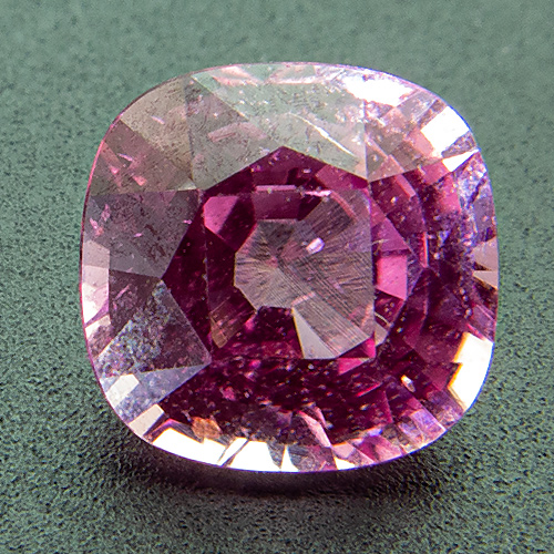 Pink sapphire from Madagascar. 1.48 Carat. Cushion, small inclusions