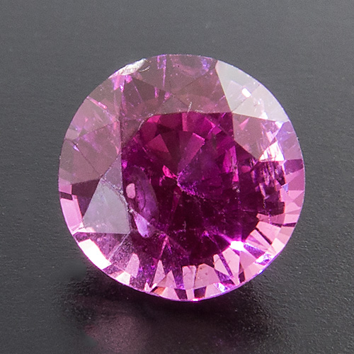 Pink Sapphire from Tanzania. 1.14 Carat. Round, very small inclusions