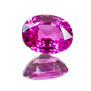Pink Sapphire from Tanzania. 1.87 Carat. Oval, very small inclusions