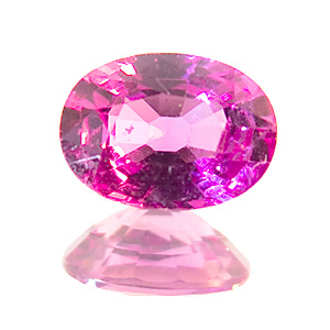 Pink Sapphire. 1 Piece. Oval, very small inclusions