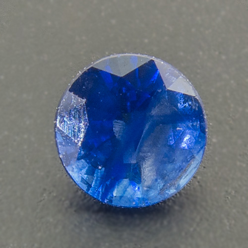 Sapphire from Sri Lanka. 0.33 Carat. Round, very distinct inclusions