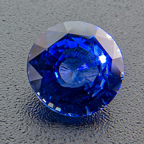 Sapphire from Madagascar. 1 Carat. Round, distinct inclusions