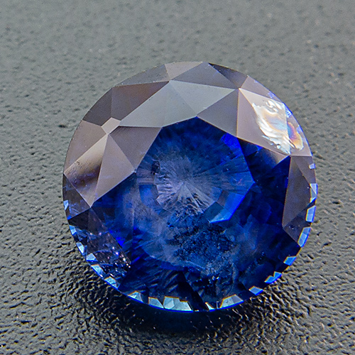 Sapphire from Madagascar. 1.28 Carat. Cut like an old cut diamond, quite high crown and small table facet
