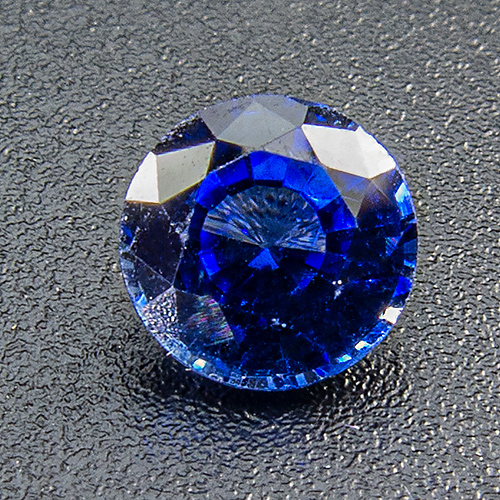 Sapphire from Madagascar. 0.73 Carat. Round, very small inclusions