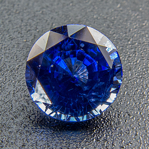Sapphire from Madagascar. 0.82 Carat. Round, very very small inclusions