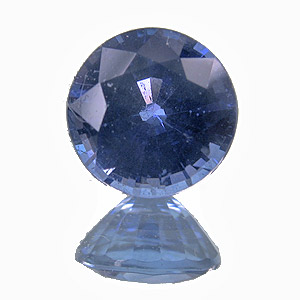 Sapphire. 1 Carat. very vivid gem. the inclusions seen on the enlarged photo are hardly visible to the unaided eye.