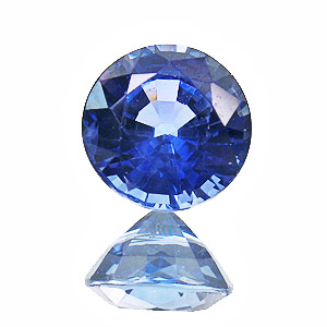 Sapphire from Madagascar. 1.25 Carat. Round, very very small inclusions