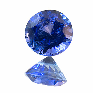 Sapphire. 0.82 Carat. what you see on the photo is a fingerprint. in reality this sapphire is almost eye-clean