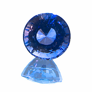 Sapphire. 1.18 Carat. slightly purplish blue