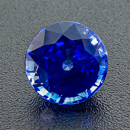 Sapphire. 1.21 Carat. Round, very very small inclusions