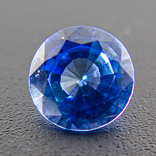 Sapphire. 0.77 Carat. Round, very small inclusions