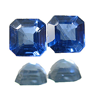Sapphire from Thailand. 0.53 Carat. Emerald Cut, small inclusions