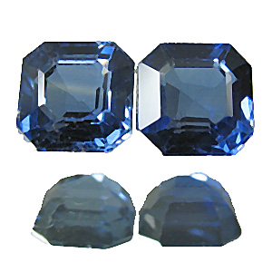 Sapphire from Thailand. 0.58 Carat. Emerald Cut, small inclusions