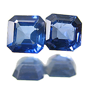 Sapphire from Thailand. 0.73 Carat. Emerald Cut, small inclusions