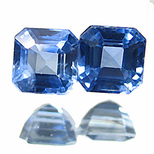 Sapphire from Thailand. 0.74 Carat. nice and friendly light blue