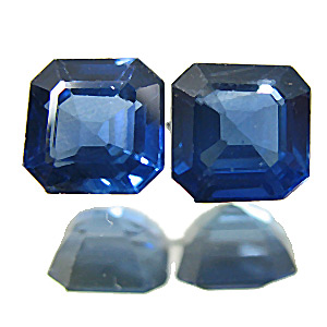 Sapphire from Thailand. 0.8 Carat. Emerald Cut, small inclusions