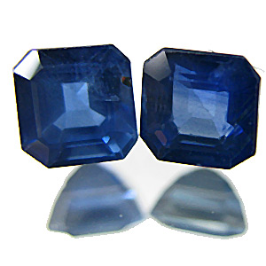 Sapphire from Thailand. 0.92 Carat. Emerald Cut, small inclusions