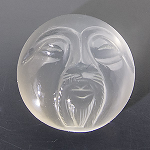 Mondstein from India. 10.76 Carat. Carving, translucent