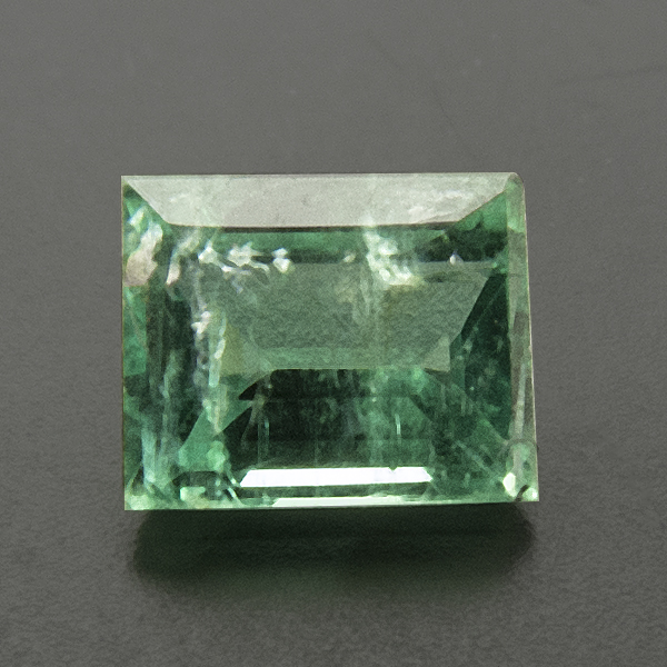 Emerald from Colombia. 0.17 Carat. Baguette, distinct inclusions