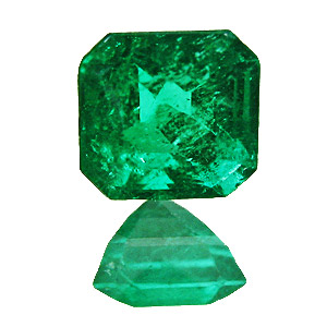 Emerald from Colombia. 0.32 Carat. Emerald Cut, small inclusions