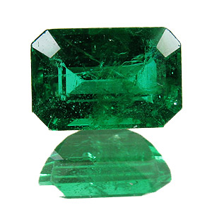 Emerald from Zambia. 1.22 Carat. Emerald Cut, small inclusions