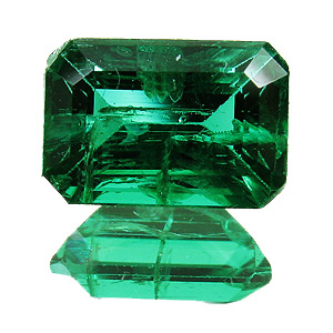 Emerald from Zambia. 1.44 Carat. Emerald Cut, small inclusions