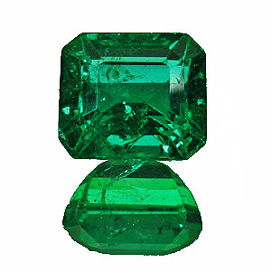 Emerald from Zambia. 1.67 Carat. Emerald Cut, small inclusions