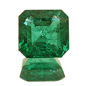 Emerald from Zambia. 1.75 Carat. Emerald Cut, distinct inclusions
