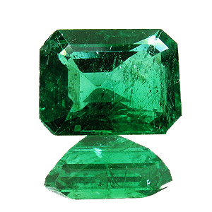 Emerald from Zambia. 1.82 Carat. Emerald Cut, small inclusions