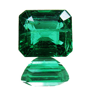 Emerald from Zambia. 1.84 Carat. Emerald Cut, small inclusions
