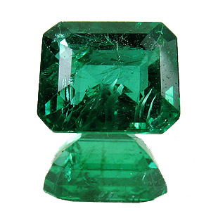 Emerald from Zambia. 2 Carat. Emerald Cut, small inclusions